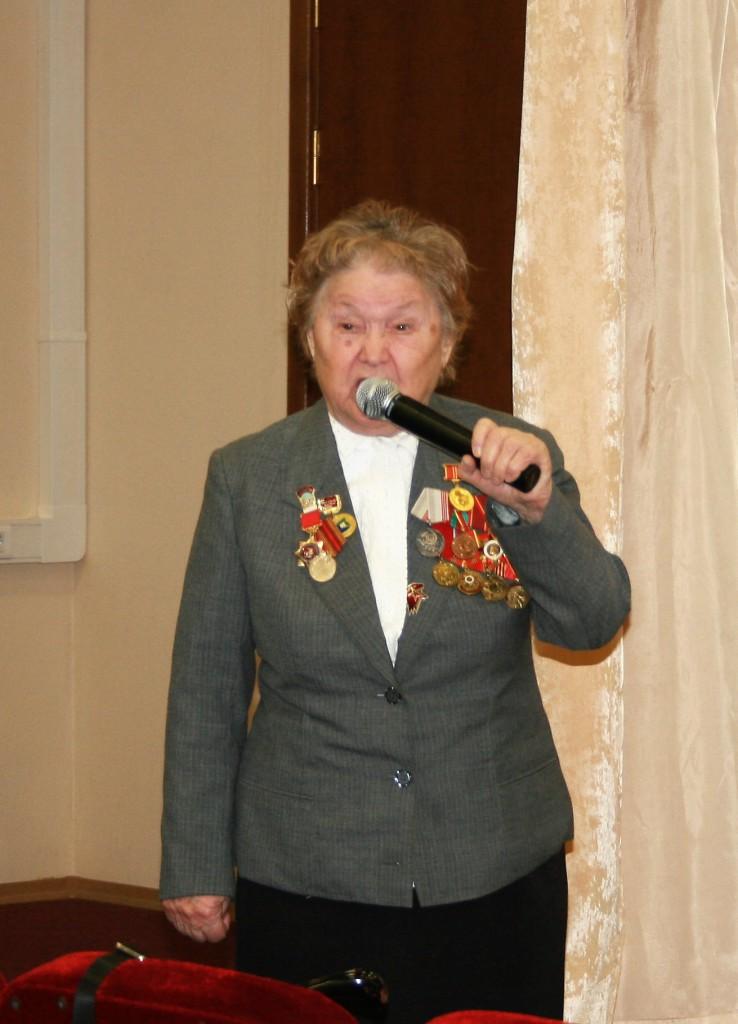 Выступление ветерана Великой Отечественной войны Трепалиной Н.М.